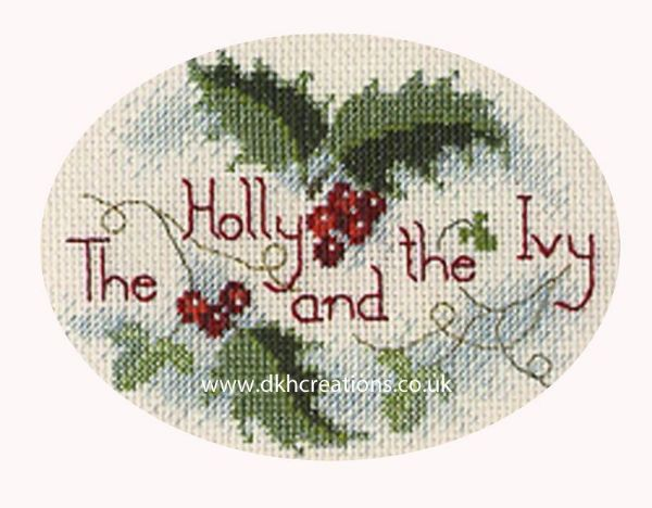 The Holly And The Ivy Christmas Card Cross Stitch Kit